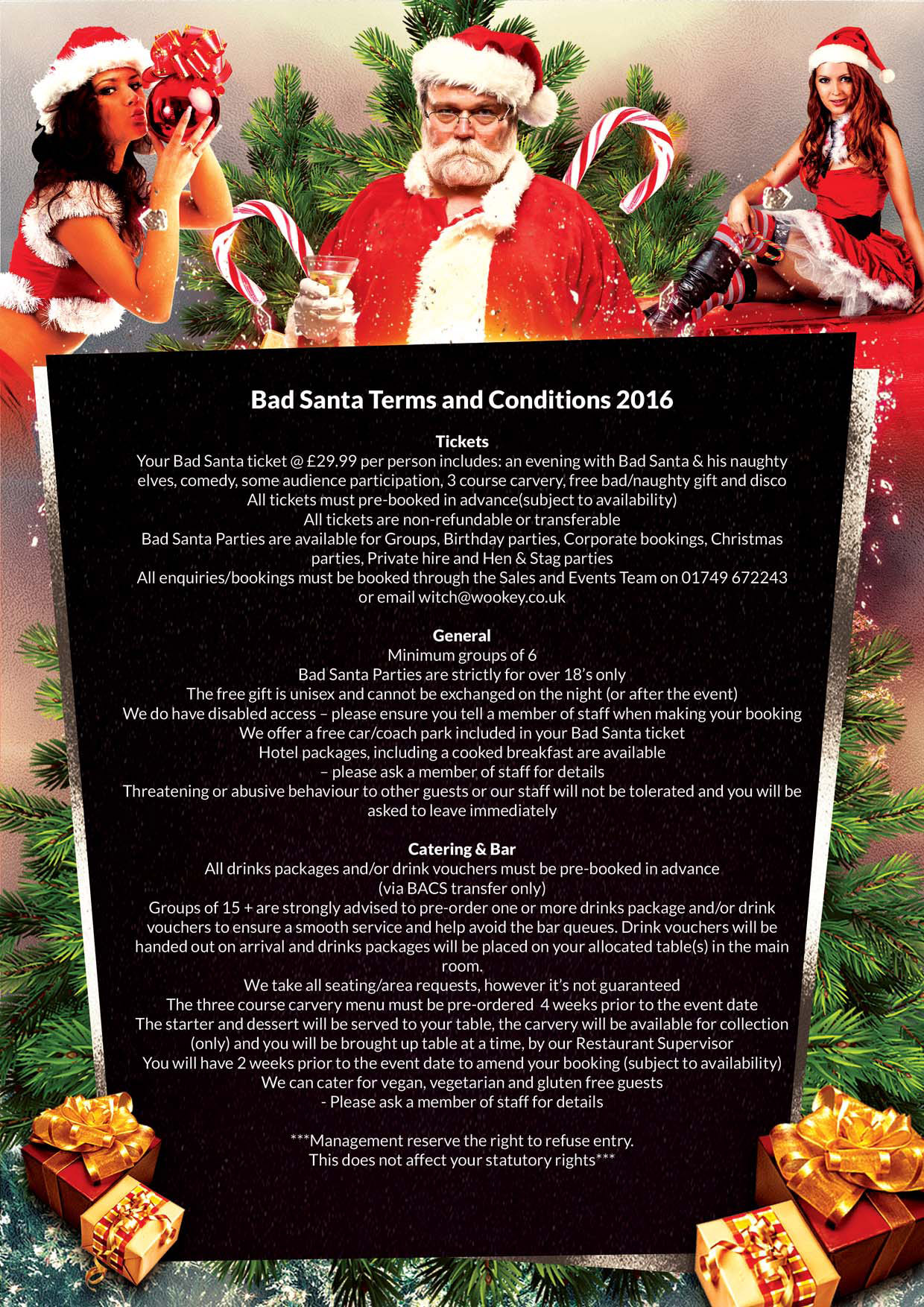 A4 BadSanta Terms and Conditions