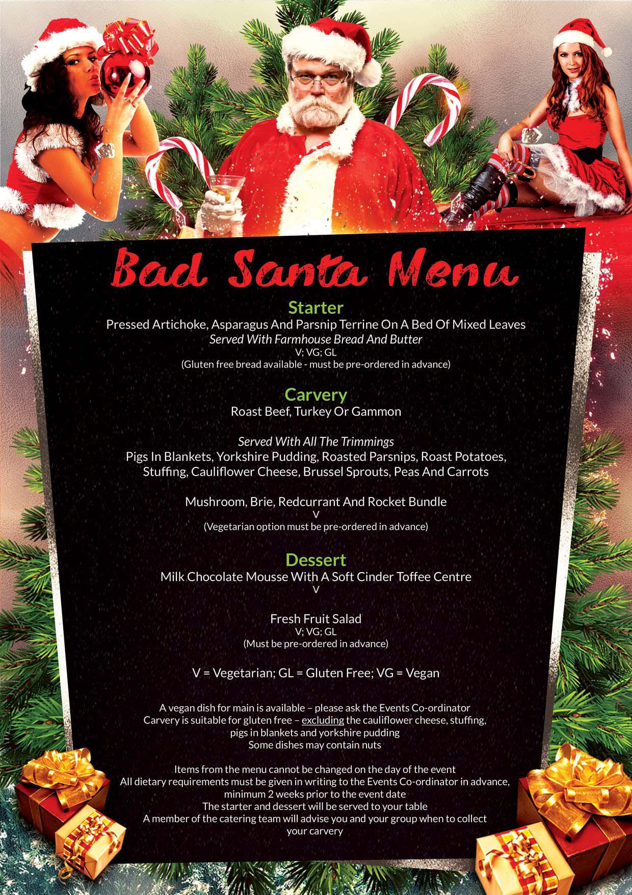 7f2b845f7783d Bad Santa Food Menu – Bad Santa Parties